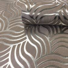 precious silks art deco silver gold wallpaper by muriva 701372