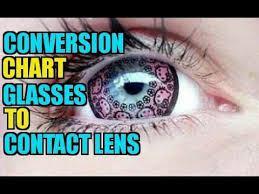 Contact Lens Power Conversion Chart Conversion Chart For Prescription Eyewear To Contact Lens