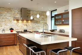 kitchen wall design smart contemporary kitchen with lovely lighting and stone accent wall from by design kitchen wall