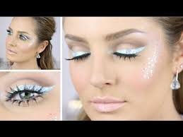 glittery ombre festival makeup fairy princess pastel liner