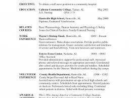 Sensational Sample Nursing Student Resume 2 Example Student Nurse