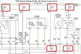 1998 chrysler sebring gage cluster lights electrical problem 1998 1998 Chrysler Sebring Fuse Box Diagram after reading the wiring diagrams, i tend to agree with your technician but before i say he was right, i need to you to check all these fuses, 2000 Chrysler Sebring Fuse Box Diagram