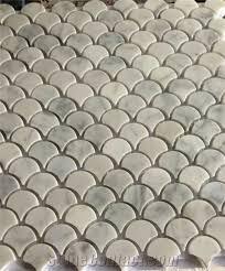 12 X 12 Decorative Tiles On Sale Marble Fish Scale Mosaic Tile Carrara Mosaic 60x60 53