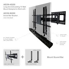 corner tv mount full motion with 32 inch long extension