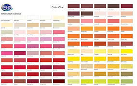 Americana Chalk Paint Color Chart Decoart Americana Acrylic Paint 2 Ounce Primary Red