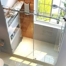 frameless glass bypass sliding shower door hardware