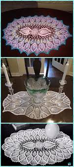 Oval Crochet Doily Patterns Free Mesmerizing Crochet Oval Pineapple Doily Free Pattern Crochet Doily Free
