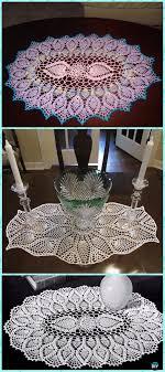 Oval Crochet Doily Patterns Free Mesmerizing Crochet Oval Pineapple Doily Free Pattern Crochet Doily Free