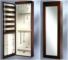 wall mounted jewelry armoire tall mirrored brown wooden wall mounted jewelry wall mounted jewelry armoire without mirror