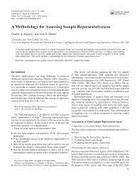 When one takes advantage of several free sample term papers on research methodology, he will be able to construct an original structure of the paper and analyze the topic in a good specific way. Pdf A Methodology For Assessing Sample Representativeness