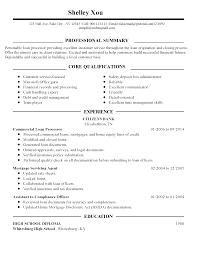 Mortgage Loan Officer Resume Sample Resume Online Builder