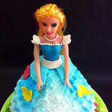 Jb 3d Princess Doll Cake Made By Smooth Cream And Fondant Sugarcraft
