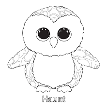 Awesome Ty Beanie Boo Coloring Pages And Print For Free Free
