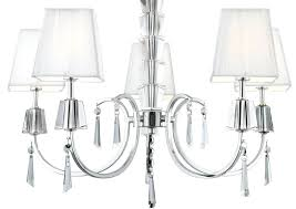 5 chandelier shades portico polished chrome 5 light chandelier white string shades 5 light chandelier with