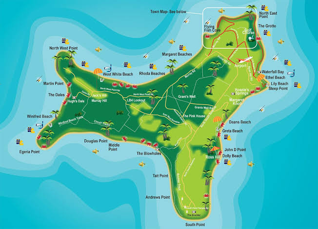 Image result for Christmas Island Map
