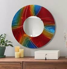 large round wall mirror handmade
