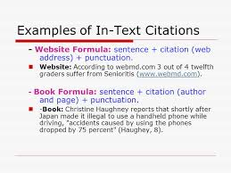 tips for draft two of your essay ppt  examples of in text citations