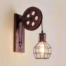 single light wire cage wall sconce
