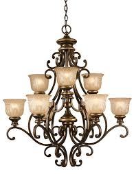 crystorama norwalk 9 light bronze umber chandelier