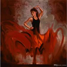 2019 spanish flamenco art hand painted oil paintings dancing woman large canvas for wall decor from reeme 106 54 dhgate com