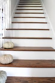 Painted Wood Stairs Stair Makeover Treads And Risers Exposed