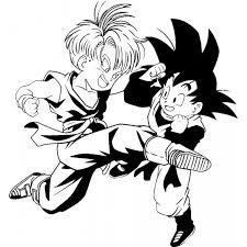Disegno Di Trunks E Goku Da Colorare Per Bambini