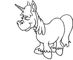 Buffo Unicorno Disegno Da Stampare E Da Colorare Gratis Disegni Da