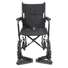 karman 19 inch steel transport chair 23 lbs black