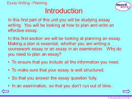 boardworks key stage english essay writing ppt  boardworks 2001 introduction essay writing planning in this first part of this unit
