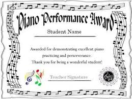 Piano Certificate Template Piano Award Certificate Piano Playing Teaching Lesson Sheets