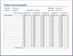 Project Task Plan Template