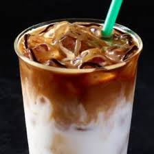 chilled sumatran coconutmilk white chocolate mocha and espresso roast bine with caramel drizzle and a swirl of mocha to create five perfectly balanced