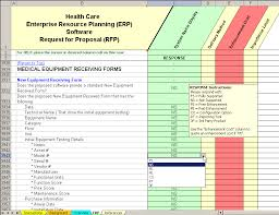 Software Implementation Plan Template Excel Healthcare Erp Software Evaluation Selection