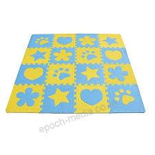 life 10pcs blue and yellow children kids baby soft eva foam activity play mat playroom