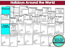 Holidays Around the World Unit For Kids - Clutter-Free Classroom