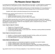 Resume Career Objective Http Resumesdesign Com Resume Career