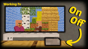Minecraft How To Make A Working Tv YouTube