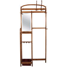 Thonet Coat Rack Bentwood Thonet Coat Rack and Umbrella Stand with Mirror at 100stdibs 42