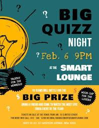 Quiz Night Flyer Template Free 8degreetheme Com