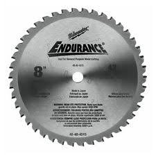 dry cut metal saw. milwaukee 48-40-4515 8-inch 42 tooth dry cut cermet tipped metal saw