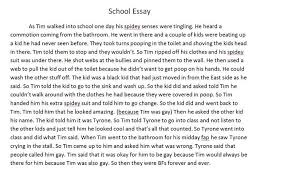 my school essay