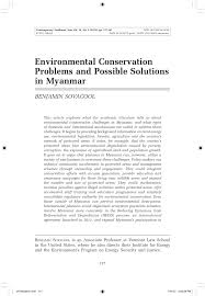 environmental conservation problems and possible solutions in  environmental conservation problems and possible solutions in myanmar pdf available