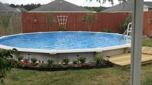 Pool Landscape Design Above Ground Pool Landscape Design Ideas Youtube