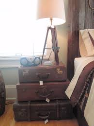 Suitcase Nightstand Simple Stacked Suitcase Nightstand With 3 Old And Vintage Suitcase 4916 by guidejewelry.us