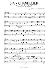 unique chandelier s piano version