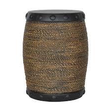 black garden stool. Brilliant Stool Allen  Roth 185in H Black Rim Faux Rope Stool Inside Garden C