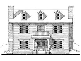 colonial home design 052h 0044