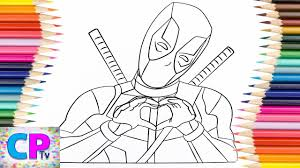 Made by rob liefeld and fabian nicieza, deadpool first showed up in the comic 'new mutants' in. Deadpool Coloring Pages Deadpool Showing Respect For Everyone Coloring Pages Tv Youtube