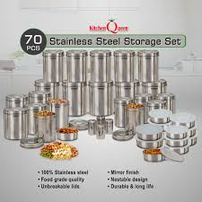 stainless steel storage containers for kitchen kitchen queen 70 pcs stainless steel storage set