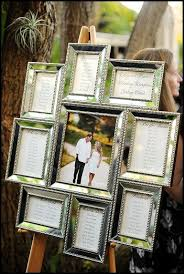 Picture Frame Seating Chart Use A Unique Frame To Creating Your Wedding Reception
